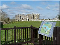 SN0403 : Carew Castle and information board by Robin Drayton