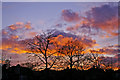 TQ2995 : Sunset, London N14 by Christine Matthews