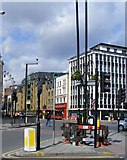 TQ3179 : Road junction Westminster bridge Road and Kennington Road by PAUL FARMER
