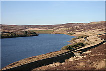 SD9633 : Walshaw Dean Middle Reservoir by Kevin Rushton