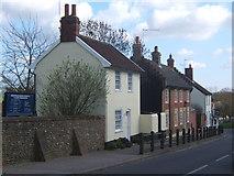 TM1763 : Houses near Debenham Church by Andrew Hill