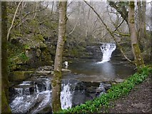 NY9038 : Waterfalls on the Middlehope Burn near High Mill, Westgate by Andrew Curtis