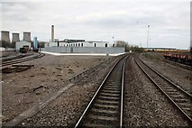 SU5290 : The engine shed, the new signalling centre and the Chesters line at Didcot by Steve Daniels