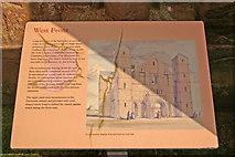 NU1241 : Notice Board, Lindisfarne Priory, Holy Island by Christine Matthews
