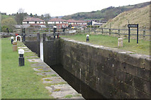 SD9321 : Winterbutlee Lock, Rochdale Canal by Stephen McKay