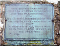 NY4430 : A Plaque on the Bridge by William England