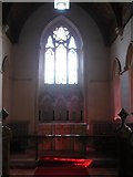 TQ9258 : The chancel of the church of St. Catherine, Kingsdown by pam fray