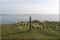 TQ8068 : Signpost by the Saxon Shore way by N Chadwick