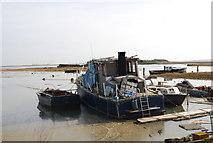TQ8068 : Boats moored, Sharp's Green Bay by N Chadwick