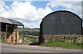 SO4715 : Corrugated barns by Pauline E