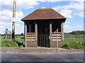 TM3864 : Bus Shelter on B1121 Main Road, Carlton by Adrian Cable