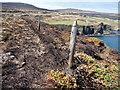 NG1954 : Fence on Gob na Hoe by John Allan