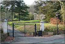 SK0573 : Iron gates on Corbar Road,  Buxton by Geoff Royle