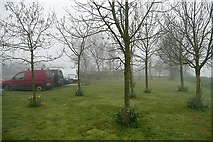 S7127 : Misty car park by Graham Horn