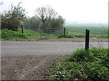 TQ5959 : The North Downs Way crosses Exedown Road by David Anstiss