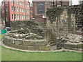 NZ2464 : Newcastle Town Wall - remains of the Ever Tower by Anthony Foster
