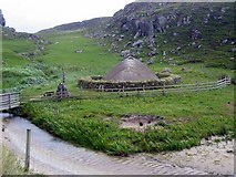 NB1340 : Reconstructed Iron Age house at Bostadh by Andrew Curtis