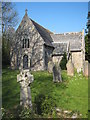 SW8741 : The church of St Moran at Lamorran by Rod Allday