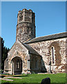 TF6303 : St Mary's church - tower and porch by Evelyn Simak