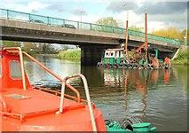 J3371 : Workboats on the Lagan, Belfast by Albert Bridge