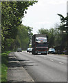 TF4806 : Traffic on the A1101 (Outwell Road) by Evelyn Simak