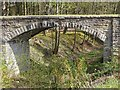 NY8261 : Old flue bridge at the Garden Station, Langley by Joan Sykes