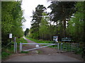 SU8565 : Entrance Gate to Crowthorne Wood by don cload