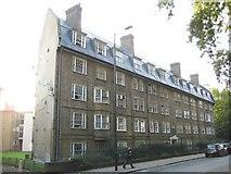 TQ3283 : Hoxton: St Leonard's Court, New North Road, N1 by Nigel Cox