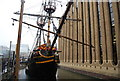 TQ3280 : The Golden Hinde, St Mary's Overy Dock by N Chadwick