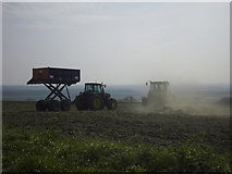 TA0114 : Cultivating the Wolds near Worlaby by David Wright