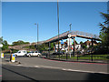 TQ2172 : Ramped footbridge over the A3 by Stephen Craven