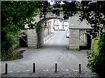 SJ9922 : Railway bridge at Great Haywood, Staffordshire by Roger  Kidd