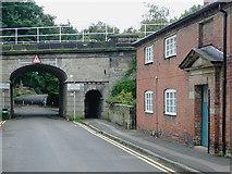 SJ9922 : Trent Lane and bridge, Great Haywood, Staffordshire by Roger  Kidd
