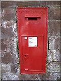 SJ4065 : Wall letterbox in the Bridgegate by John S Turner
