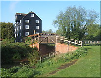 TM0954 : Bosmere Mill by the Gipping by Andrew Hill