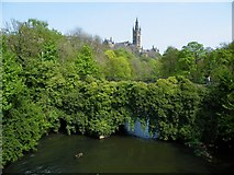 NS5666 : River Kelvin and Glasgow University by Thomas Nugent