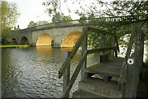SP4408 : Swinford toll bridge on an early May morning by Brian Walker