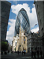TQ3381 : The Gherkin, 30, St Mary Axe, London by Oast House Archive