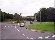SS9612 : Tiverton : Heathcoat Way Roundabout & Old Road by Lewis Clarke