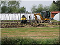 TL1556 : Works underway at the plant nursery, Chawston by Michael Trolove