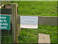SP6821 : Warning notice near Spring Hill, Grendon Underwood by Andy Gryce