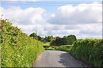 ST0368 : Minor road to Llancadle by Mick Lobb