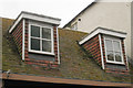 TQ8209 : Flat Roof Dormer windows on George Street by Oast House Archive