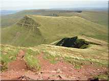 SO0121 : The path down from the summit of Pen y Fan by Kenneth Yarham