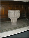 SJ9398 : St Peter's Church, Ashton-Under-Lyne, Font by Alexander P Kapp