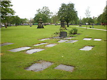 SJ9398 : St Peter's Church, Ashton-Under-Lyne, Graveyard by Alexander P Kapp