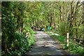 SX0169 : Carpark entrance at Polbrock Bridge by Andy F