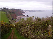 SX9675 : Clerk Tunnel and the South West Coast Path by Kenneth Yarham