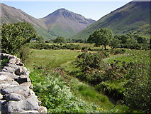 NY1807 : Great Gable from the head of Wast Water by Kenneth Yarham