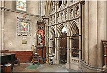 TQ2479 : St John the Baptist Church, Holland Road, London W14 - Entrance north chapel by John Salmon
